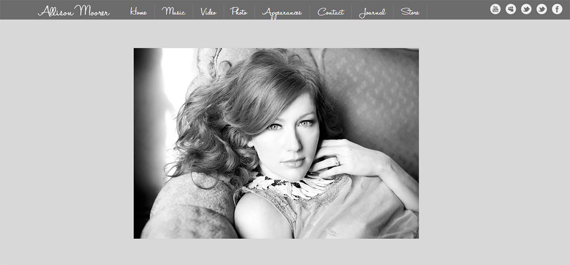 Allison Moorer Website