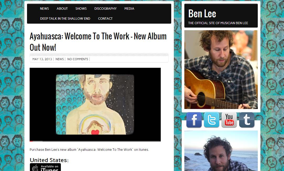Ben Lee Website