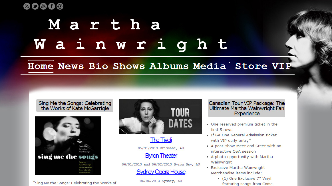 Martha Wainwright Website